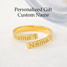 цена на Family Ring Custom Name Ring Personalized Jewelry Mother Daughter Gift Stainless Steel Engraved Initials Ring For Best Friend