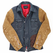 arrivals 2020 new men's patchwork genuine contrast color fashion jacket men suede leather coat male(China)