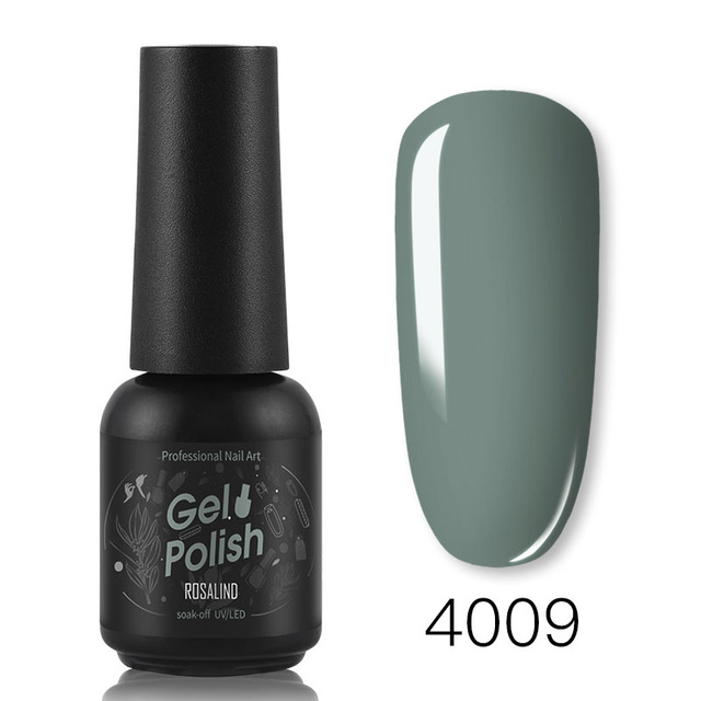 ROSALIND Gel Nail Polish 8ML Hybrid Varnishes Soak Off Gellak Nails Art Design Solid Color Semi Permanent Nail Lacquer Base Top