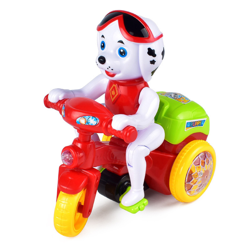 New Products Dog Stunt Motorcycle Tricycle Stereo Rotating Stunt Car With Light And Music CHILDREN'S Toy