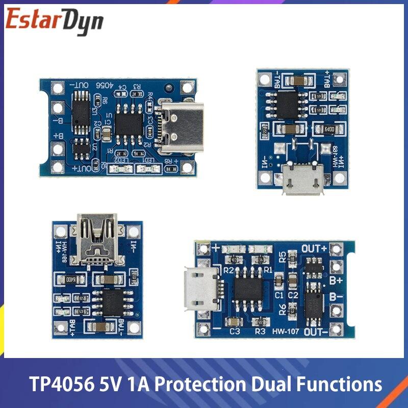 TP4056 + Двойная функция защиты 5 в 1 а Micro USB 18650 литиевая батарея зарядная плата модуль зарядного устройства