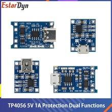 Tp4056 + proteção funções duplas 5v 1a micro usb 18650 bateria de lítio placa de carregamento carregador módulo