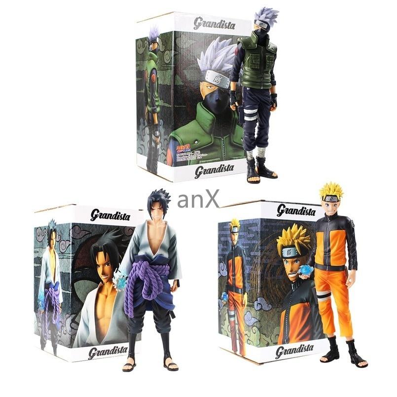 28 CM Uchiha Sasuke Anime Naruto Figures Uzumaki Naruto Hatake Kakashi Action Figure Collectible PVC Model Toys Gift