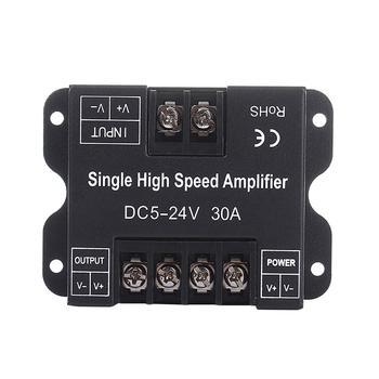DC 5-24V 30A одноцветная коробка данных повторитель алюминиевый усилитель сигнала для S-M-D 3528 5050 5630 2835 L-E-D полосы света