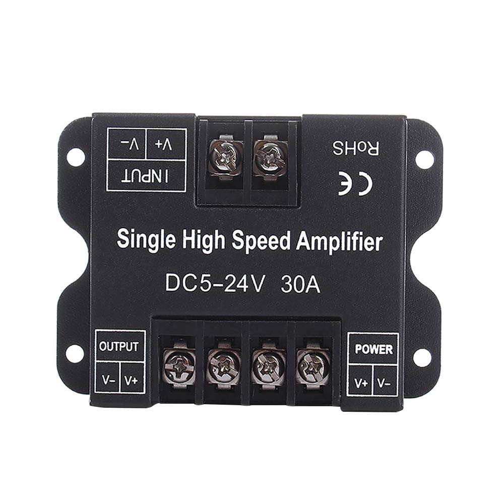 DC 5-24V 30A Single Color Data Box Repeater Aluminum Signal Amplifier For S-M-D 3528 5050 5630 2835 L-E-D Strip Lights