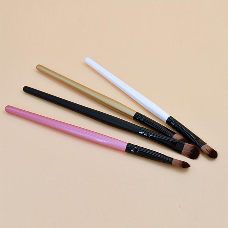 1 Pcs Blending Makeup Brush Portable Wooden Handle Makeup Brush For Eyeshadow Nose Contour Smudge Makeup Tool TSLM1