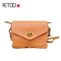 BJYL New mini female bag head layer cute little messenger bag sweet lady wave edge leather phone bag