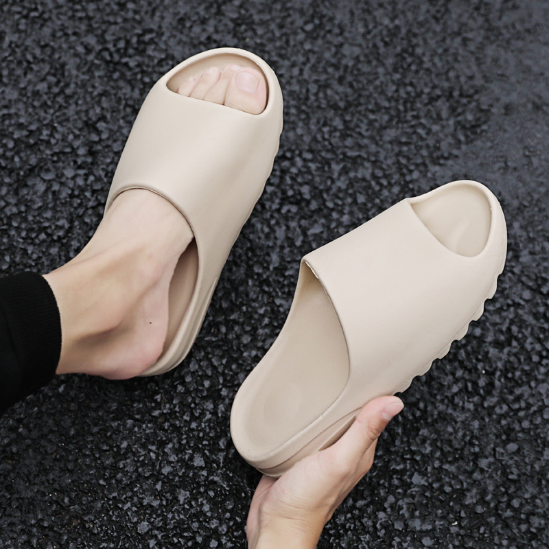 New Style Slippers Men Fashion Summer Solid Color Casual Home Slipper Shoes Eva Injection Non-slip Shoes Beach Slides(China)