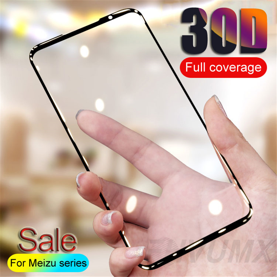 30D Protective Glass On For <font><b>Meizu</b></font> <font><b>16</b></font> 16th 16S 16X 16XS Note 8 9 Tempered Glass For <font><b>Meizu</b></font> M8 Lite Note V8 <font><b>Pro</b></font> X8 Screen Protector image