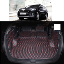 lsrtw2017 for kia sorento prime leather car trunk mat cargo liner 2015 2016 2017 2018 2019 carpet rug luggage boot accessory