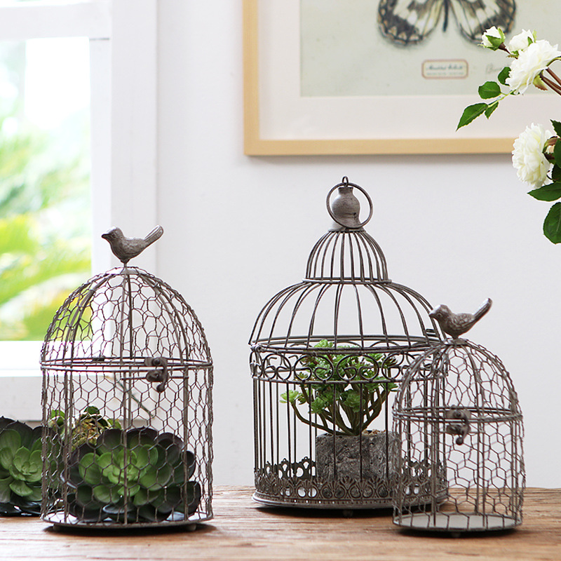 Европейский ретро клетка для птиц из кованого железа украшения дома гостиной украшения окна дисплей Клетка декоративная|Птичьи клетки и гнезда| | - AliExpress