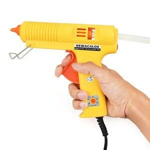 Image 5 - NEWACALOX pistola de fusión en caliente, 150W, bricolaje, UE, varilla adhesiva de 11mm, pistolas de silicona eléctricas industriales, herramientas de calor para reparación de pistola térmica