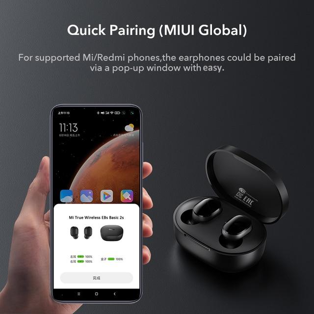 Xiaomi mi true wireless earbuds basic 2s Bluetooth 5.0 touch control TWS earphone gaming mode USB C headphone 3
