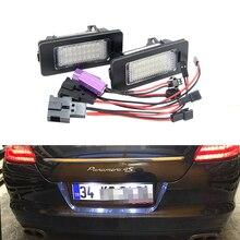 Замена OEM#7PP943021 CANbus светодиодные номерные знаки для Porsche Panamera 970 2010