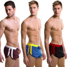 New wj mens boxers shorts  fashion loose quick-drying fabric male sports home Sleep 5 colors size S M L XL