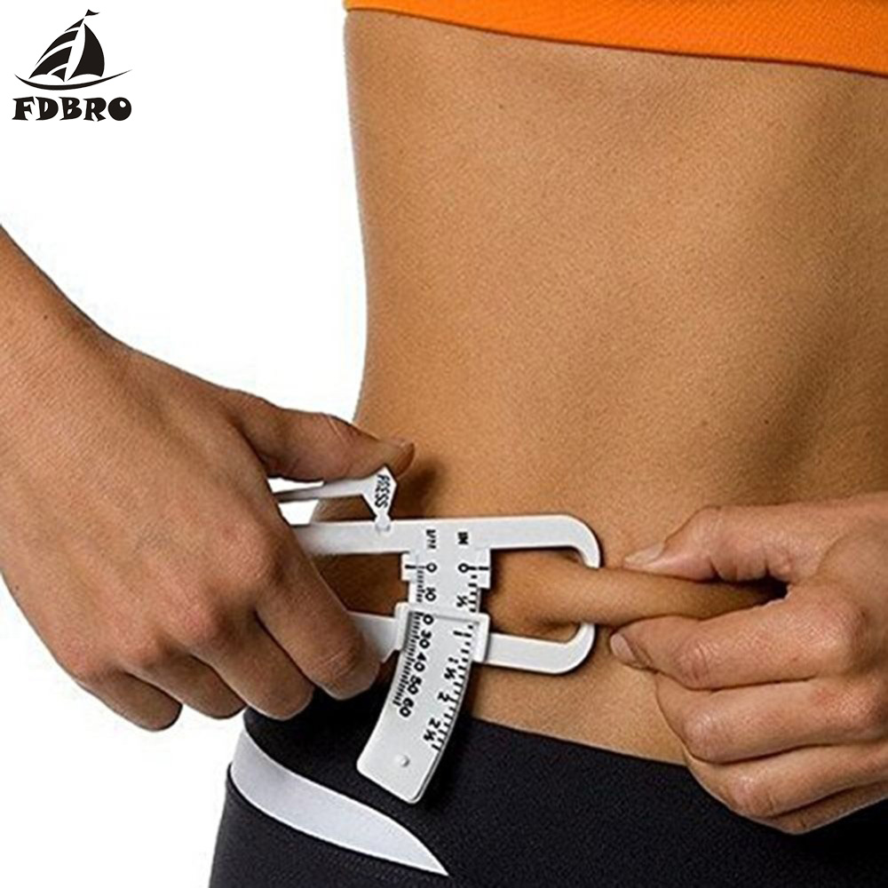 FDBRO Fitness Clip Fat Measurement Tool Slim Chart Skin Fold Body Fat Monitors Personal Body Fat Loss Tester Calculator Caliper