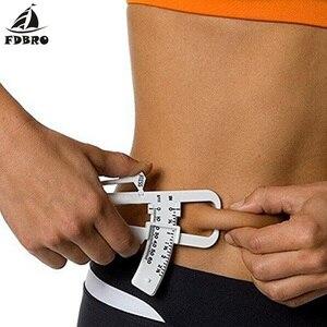 FDBRO фитнес-инструмент для измерения жира, тонкая Таблица, складной Монитор Жира в теле, измеритель потери жира в теле, калькулятор, штангенци...