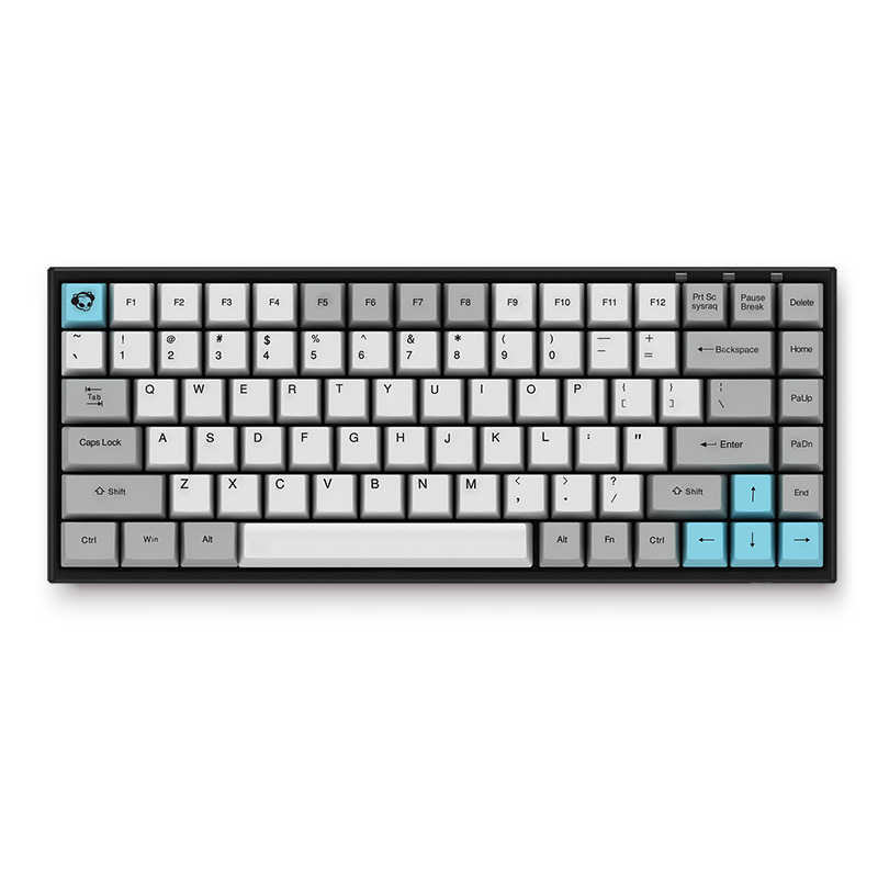84-Key Keyboard Cherry MX Switch PBT Keycap Gaming Mechanical Gaming Keyboard Kabel + Bluetooth Dual-Mode Keyboard