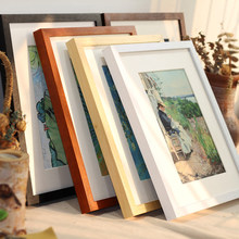 Black White Wood Color Picture Photo Frame A4 A3 Wooden Frame Nature Solid Wall Mounting Hardware Included Without Cardboard