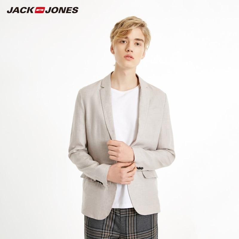 JackJones Men's Linen Suit Jacket Comfortable Blazer Basic Menswear 219108505