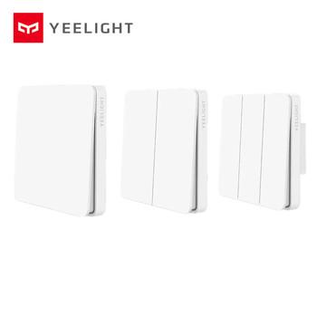 Mijia Yeelight Slisaon przełącznik przełącznik do montażu ściennego otwarty podwójny przełącznik sterujący 2 tryby przełącznik flex Over inteligentny włącznik światła lampy tanie i dobre opinie Ready-to-go 2 kanały