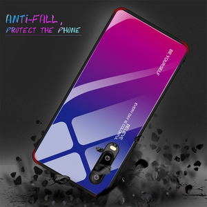 Gradient Regenbogen Telefon Fall für Huawei P30 Pro P Smart 2019 Stained Gehärtetem Glas Fall für Huawei P20 Lite Nova 4 4E 3 3i 3E