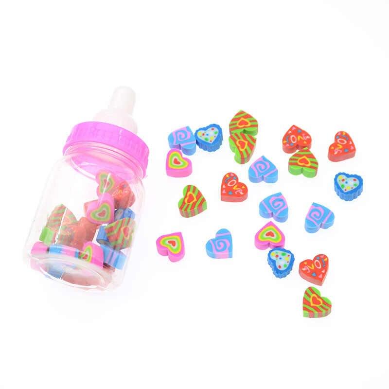 1pc (18-22 Tabletten) milch Flasche Radiergummi Obst Tier Weihnachten Digital Gummi Flasche Kinder Studenten Nette Schreibwaren Geschenke