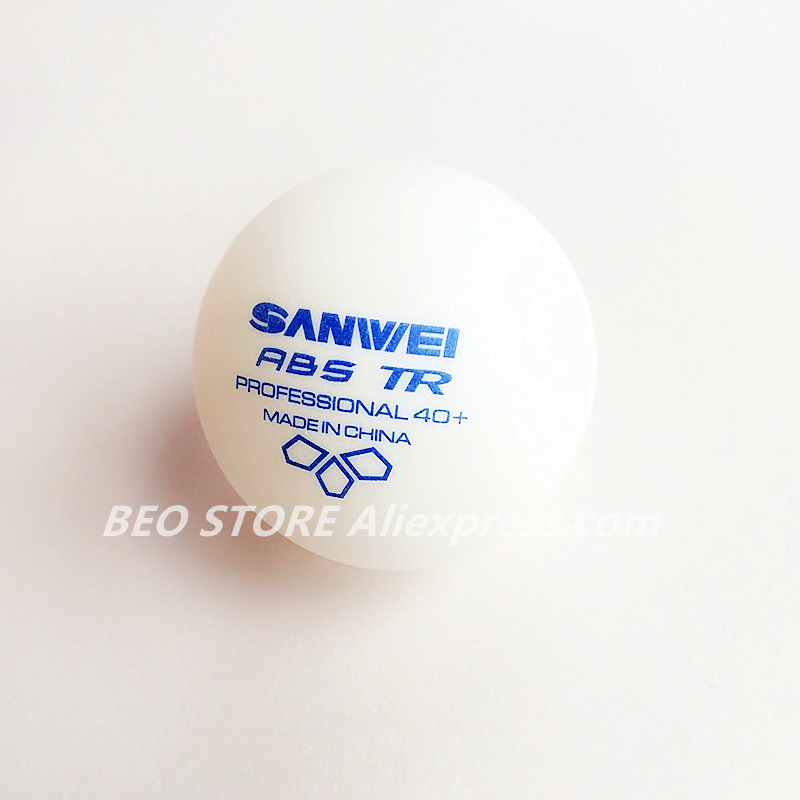 100 Balls Table Tennis Ball SANWEI 2019 New 3-star TR ABS Material Plastic Professional 40+ Training Ping Pong Ball