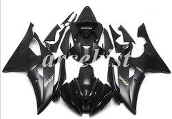 Новый ABS мотоцикл полный обтекатель комплект подходит для YAMAHA YZF-R6 2008-2016 08 09 10 11 12 13 14 15 16 комплект кузова черный