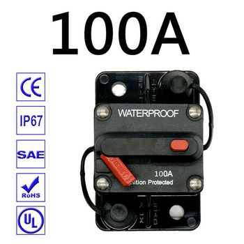 цена на 30A-300A AMP Circuit Breaker Fuse Reset 12-48V DC Car Boat Auto Waterproof Fuse Box Fuse Car Fusibles Amplificador