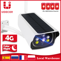 Batería de cámara 4G para exteriores, Panel Solar HD de 1080P, alimentado por batería, cámara IP inalámbrica CCTV de seguridad, tarjeta SIM, cámara de seguridad de red