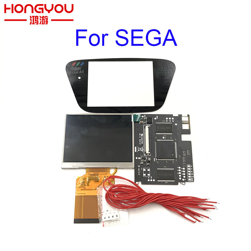 Version 3 0 For Sega Game Gear HighLit Full Display LCD Screen Support VGA Out Mod Kit From 3 2in To 3 5inch