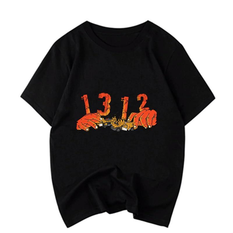 Acab Fashion Graphic T Shirt Women Men Harajuku Ullzang 90S T-Shirt Korean Style Idols Tshirt