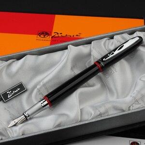 Image 3 - شحن مجاني Pimio 907 0.5 مللي متر إيريديوم بنك الاستثمار القومي الفاخرة السلس المعادن قلم حبر مع الأصلي هدية صندوق الحبر أقلام