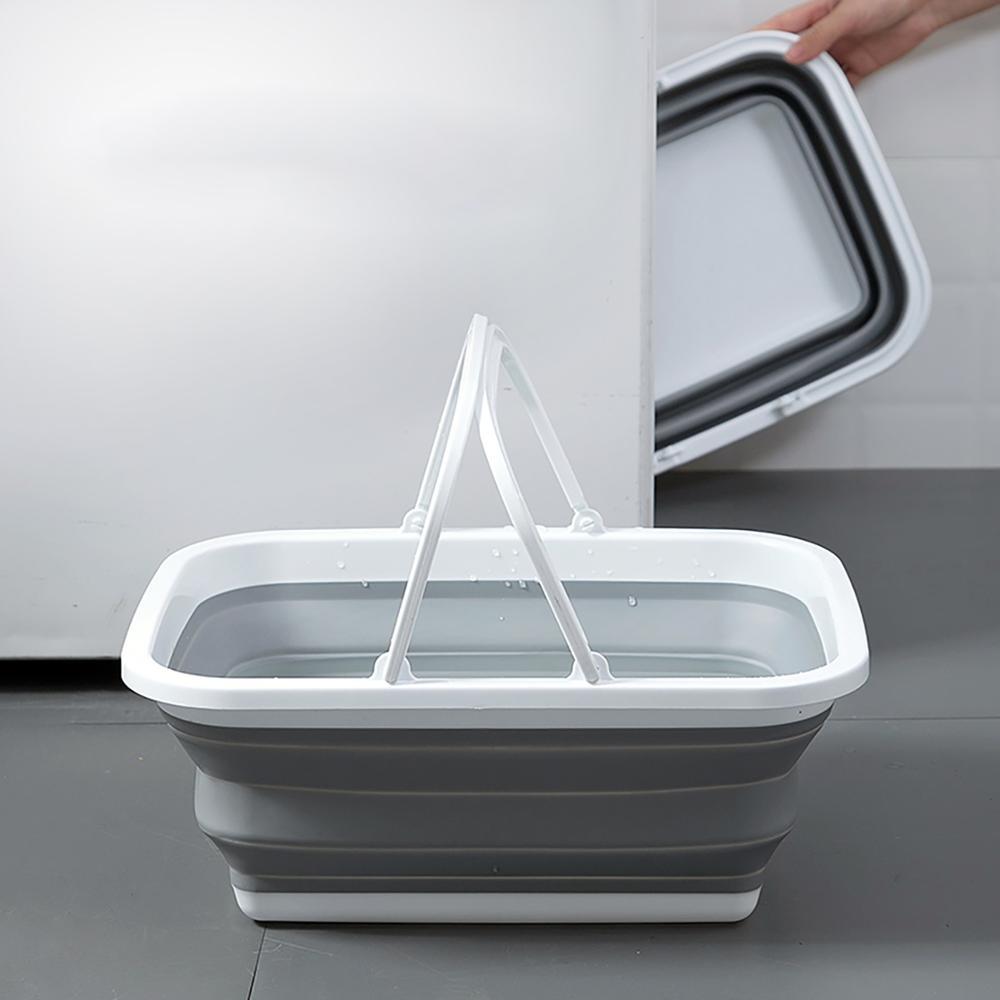 Large Folding Mop Bucket Bathroom Bucket with Handle Portable Water Container Foot Bath Bucket Outdoor Fishing Car Wash Bucket