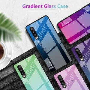 Image 2 - Gradient Tempered Glass Phone Case For Huawei Mate 30 Pro Honor 8X P30 Lite P20 P 20 Smart Plus Nova 3i 3e 3 Cover Housing Coque