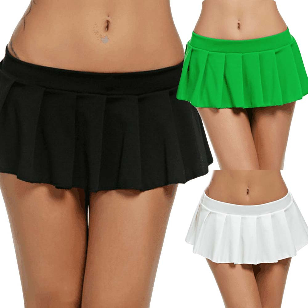 Sexy Women's Mini Skirt Women Micro Mini Skirt Dance Clubwear Party Clubwear Short Pleated Skirt Cute Sweet Girls Dance Skirt