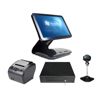 15.6 Inch Flat Panel Touch Screen POS Terminal Windows OS All In One POS System