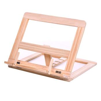 Multifunction Adjustable Wooden Frame Reading Book Magazine Stand Bookshelf Tablet PC Holder Drawing Easel Stationery