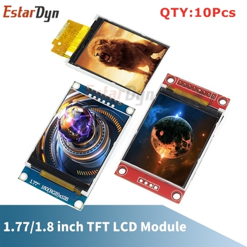 10Pcs 1.77 1.8 inch TFT LCD Module Screen SPI serial 51 drivers 4 IO driver Resolution 128*160 interface