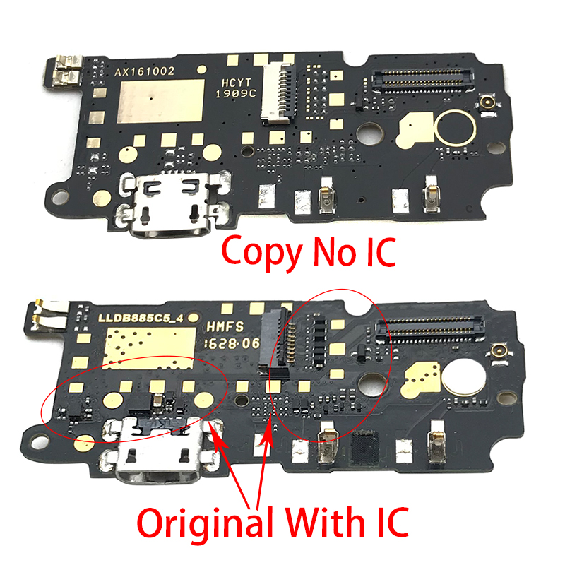 Original USB Charging Port Board Flex Cable Connector Parts For Xiaomi Redmi 5A Note 4X 4 5 7 Mic Microphone Module