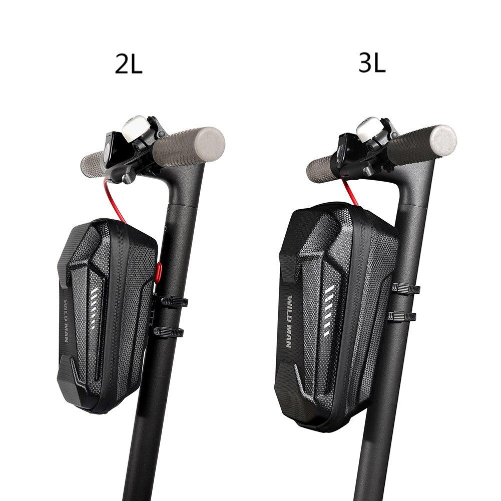 WILD MAN EVA Hard Shell Bicycle Bag Electric Scooter Hanging Bag Bike Handle Bar Bag Handle Balance Bags Case Cycling Equipment