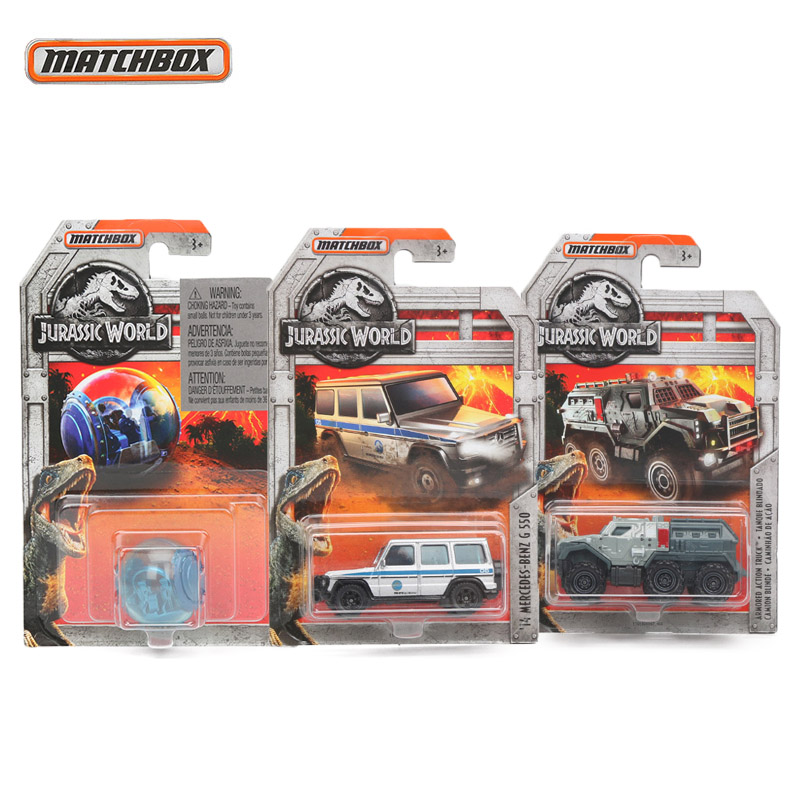 Matchbox Toys 1:64 Jurassic World Limited Edition Cars 14 Mercedes-Benz G 550 Diecast Vehicle Collection Alloy Race Car