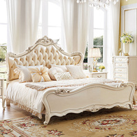 Foshan high quality luxury kingsize bed super king size bed