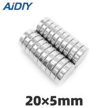 AI DIY 5/10/30 pcs 20mm x 5mm N35 Super strong round powerful neodymium magnets Rare Earth Magnetic 20 *