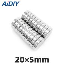 цена AI DIY 5/10/30 pcs 20mm x 5mm N35 Super strong round powerful neodymium magnets Rare Earth Magnetic magnets 20 * 5mm онлайн в 2017 году