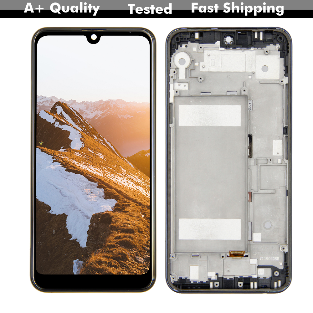 6.26'' With Frame For LG K50 Q60 LMX520BMW LMX520EMW K12 Max LCD Touch Screen Digitizer Assembly K12 Max