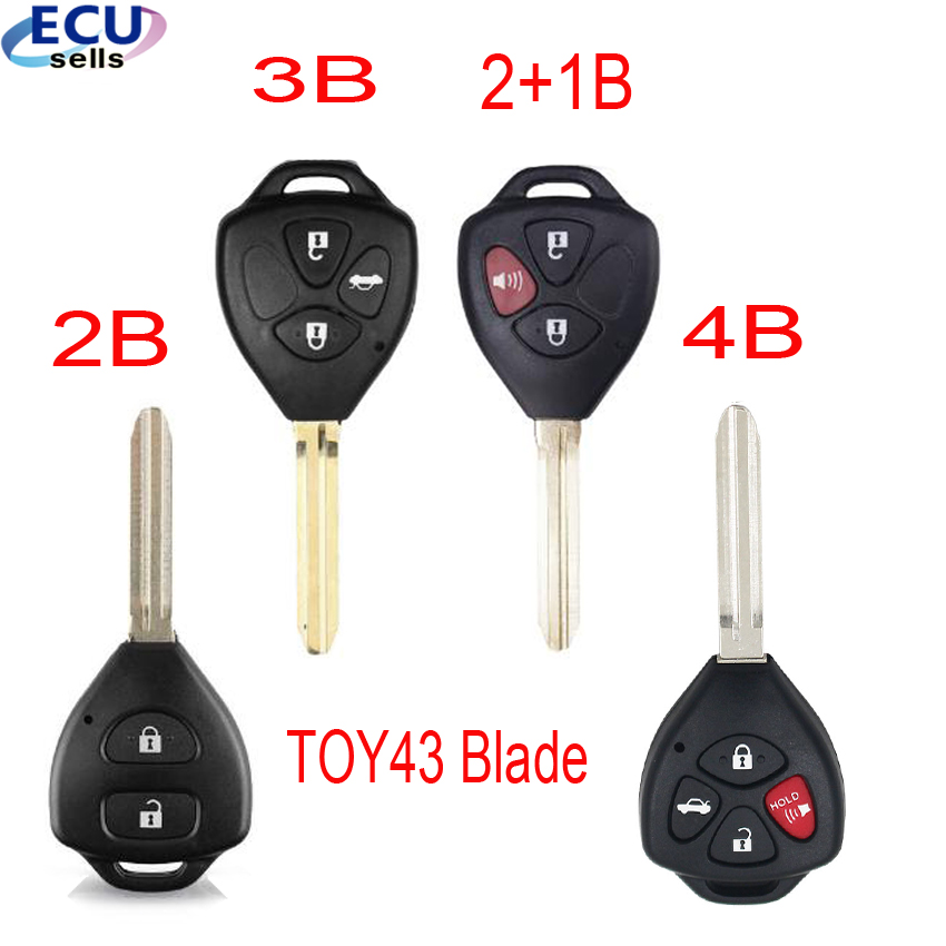 2 For 2008 2009 2010 2011 2012 2013 2014 2015 Toyota Yaris Remote Shell Key Case