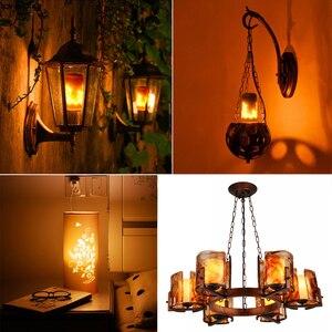 Image 2 - Modelo completo 3W 5W 7W 9W E27 E26 E14 E12 bombilla de llama 85 265V LED efecto llama bombillas de luz de fuego parpadeo emulación decorativa LED