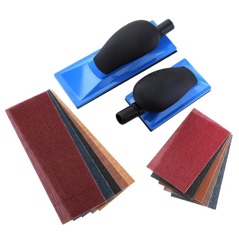 Sending Pads 1pc Sanding Block Hand Dust Extraction Sanding Grinding Dust Free Abrasive Tool With Mesh Sandpaper Block